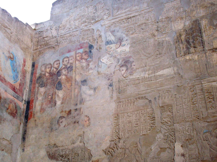 Fresco painting on wall